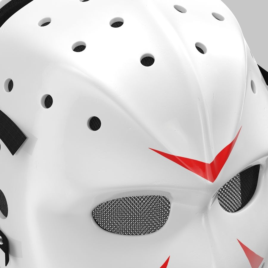 Masque de hockey 2 royalty-free 3d model - Preview no. 13