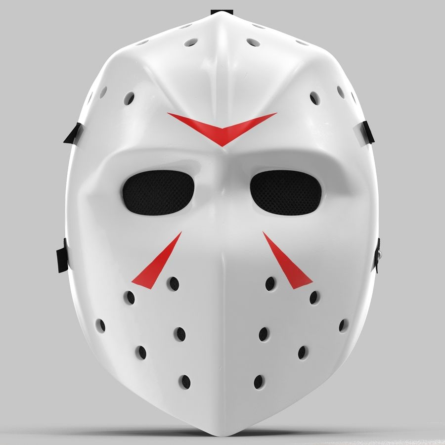 Masque de hockey 2 royalty-free 3d model - Preview no. 7