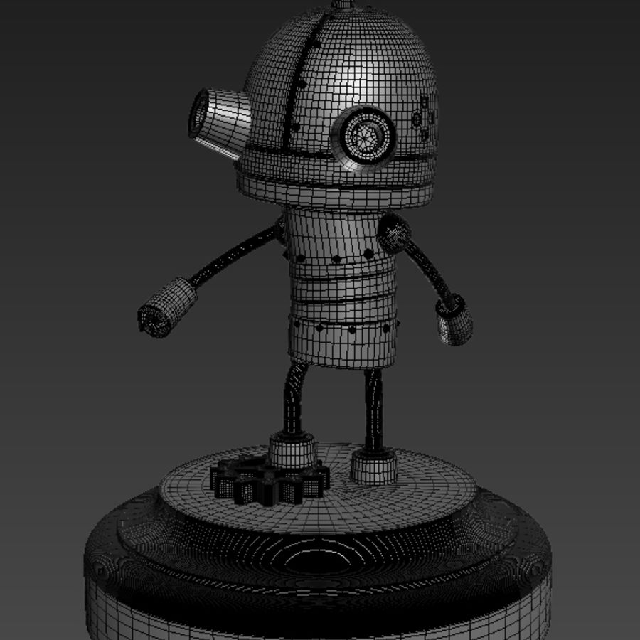 Josef Robot Machinarium royalty-free 3d model - Preview no. 7