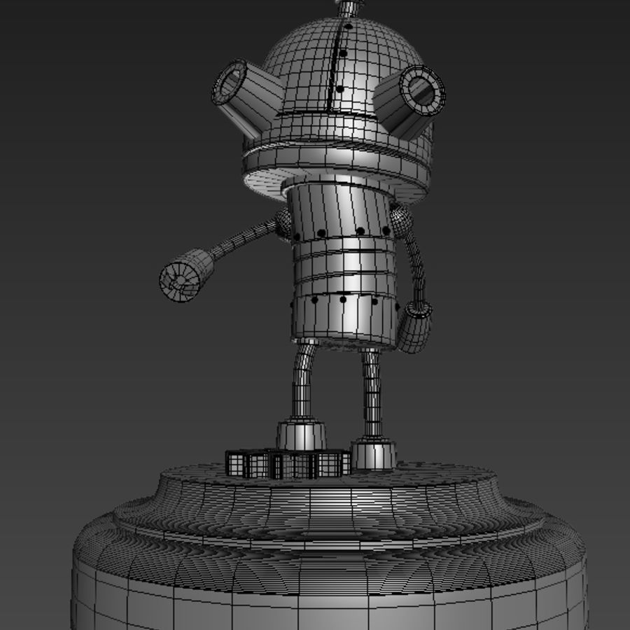 Josef Robot Machinarium royalty-free 3d model - Preview no. 4