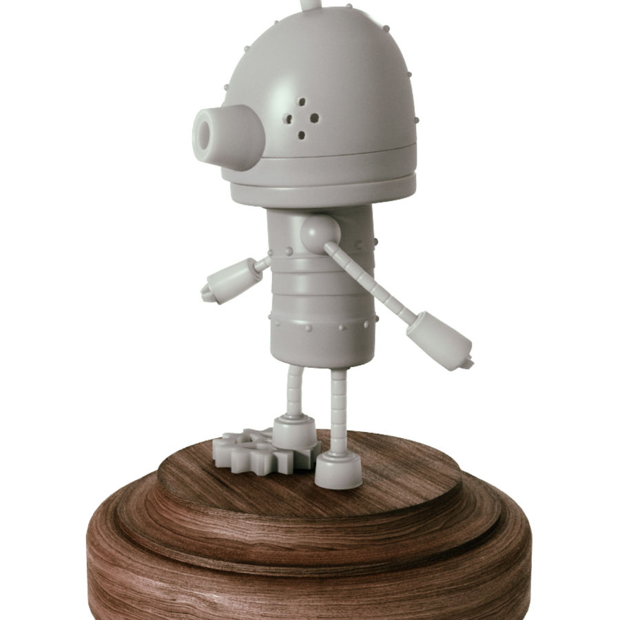Josef Robot Machinarium royalty-free 3d model - Preview no. 2
