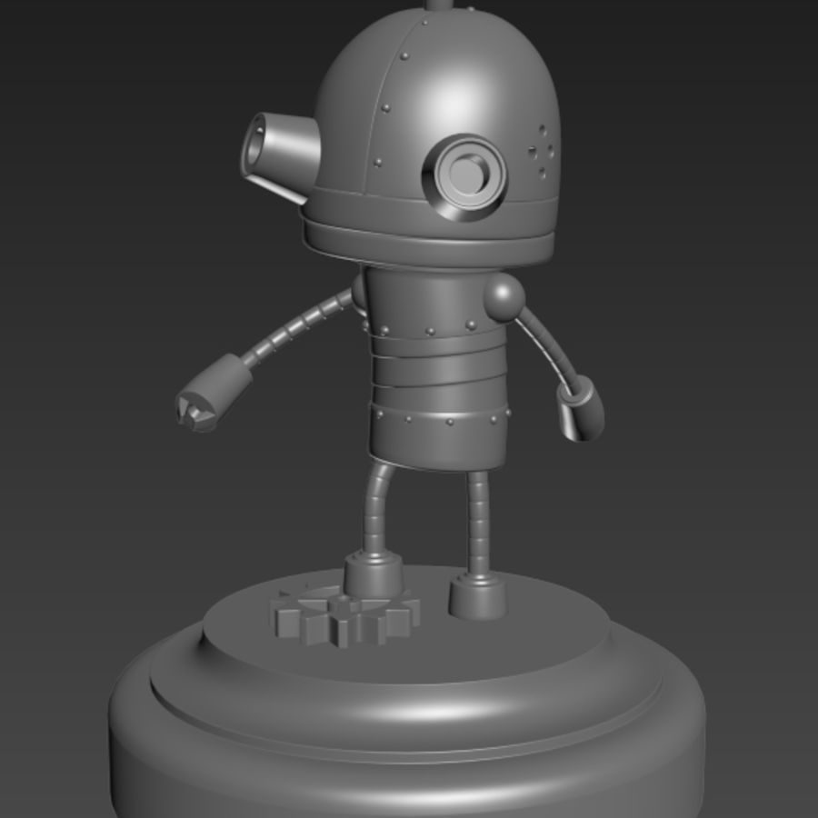 Josef Robot Machinarium royalty-free 3d model - Preview no. 8