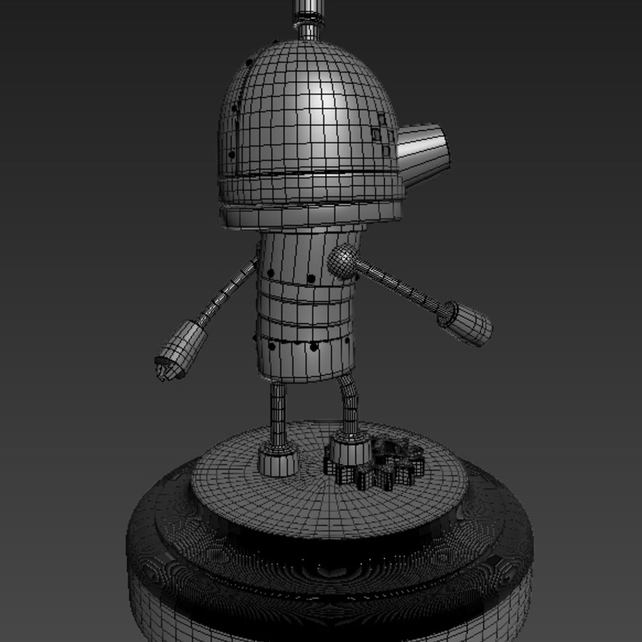 Josef Robot Machinarium royalty-free 3d model - Preview no. 5