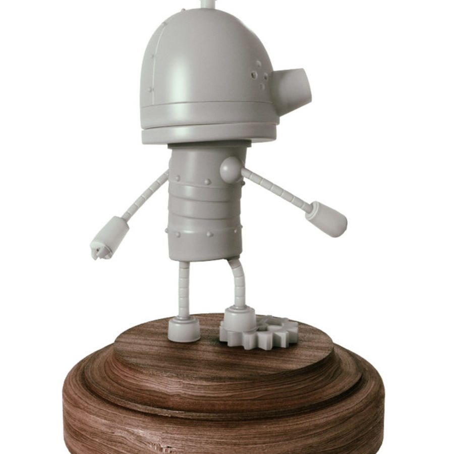 Josef Robot Machinarium royalty-free 3d model - Preview no. 3
