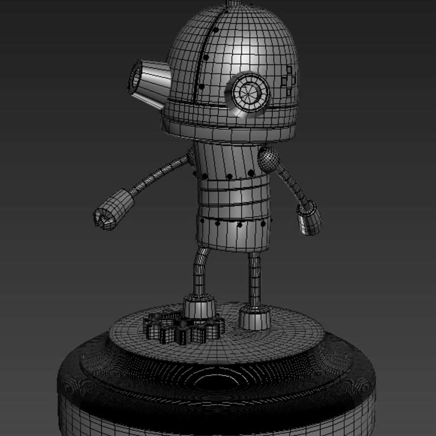Josef Robot Machinarium royalty-free 3d model - Preview no. 6