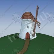 Desenho de moinho de vento 01 3d model