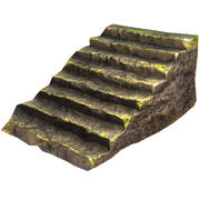 Rocky Staircase | Low Poly Game Asset 3d model