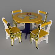 子供用テーブルと椅子 3d model
