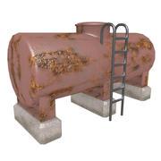 Viejo tanque de gas modelo 3d