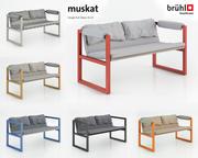 Sofa Muskat 3d model