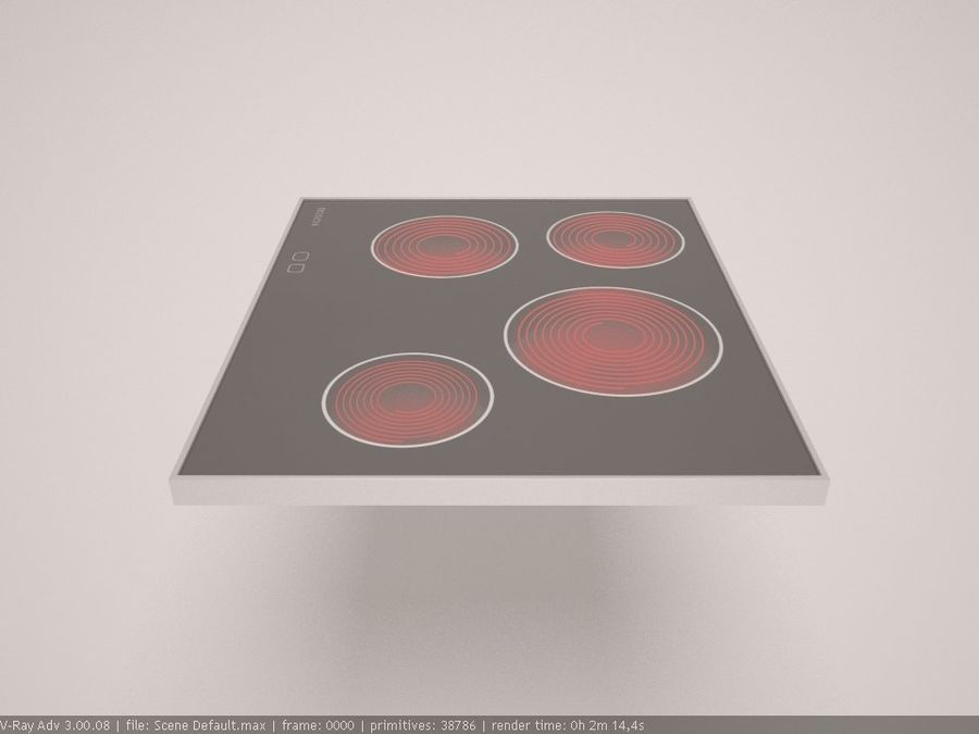 cooktop royalty-free 3d model - Preview no. 7