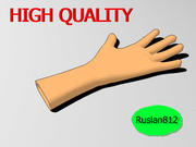 Hand Cartoon 3d model