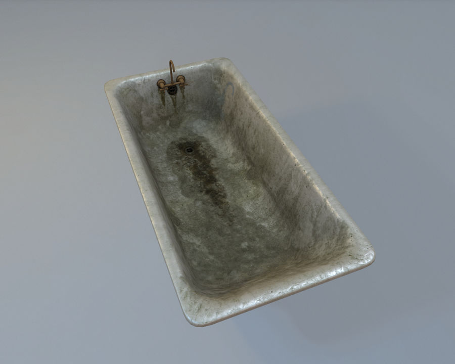 목욕통 royalty-free 3d model - Preview no. 5