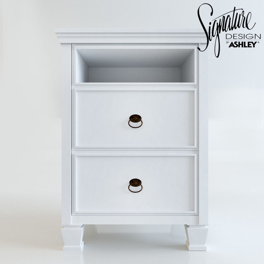 Night stand by Ashley möbler royalty-free 3d model - Preview no. 2