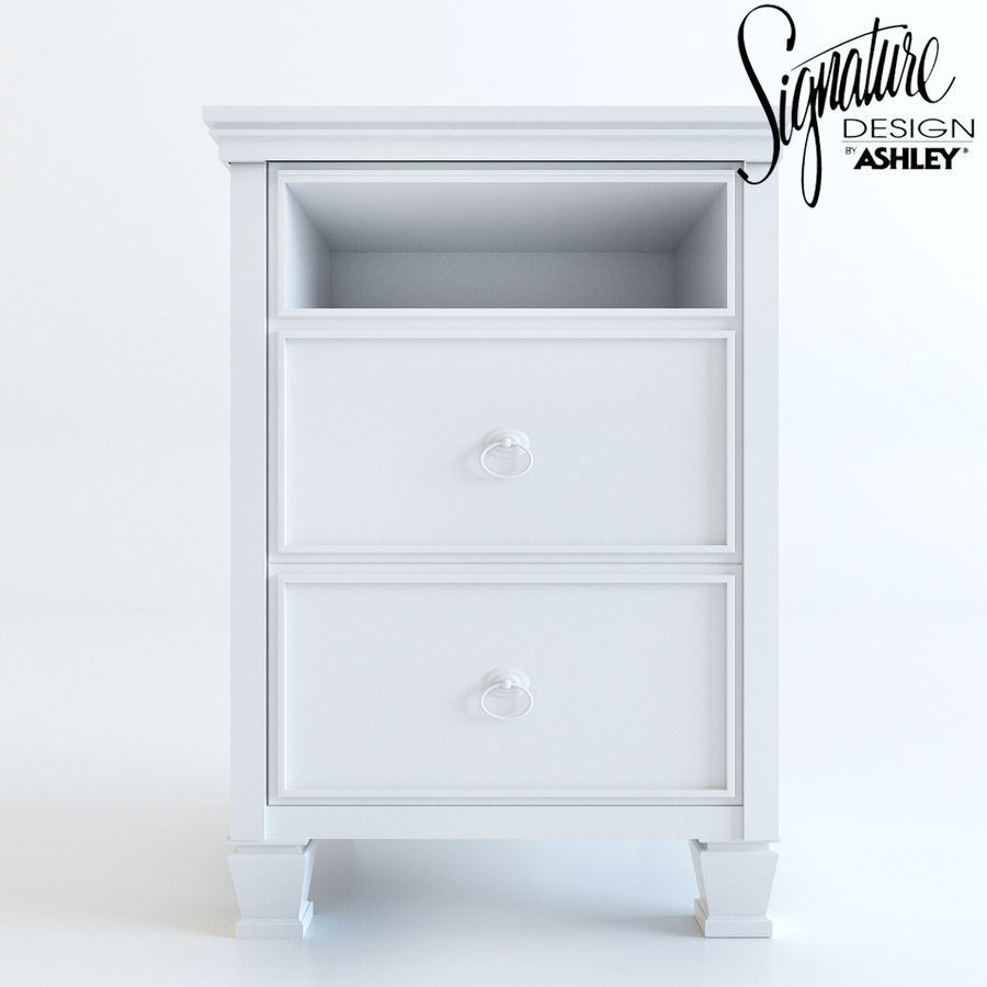 Night stand by Ashley möbler royalty-free 3d model - Preview no. 4
