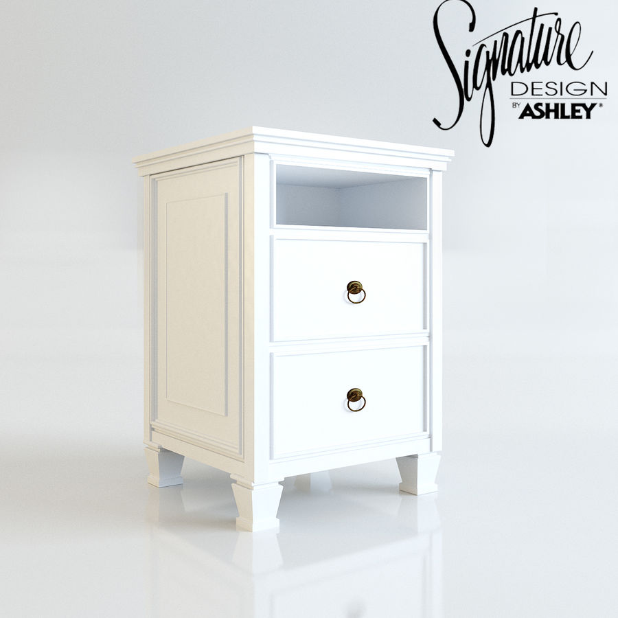Night stand by Ashley möbler royalty-free 3d model - Preview no. 1