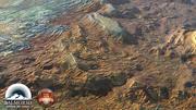 Volcanic rock landscape North America 3d model