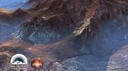 Rocky desert mountains America 3d model