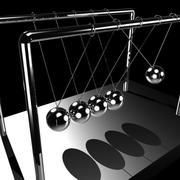 牛顿摇篮平衡球 3d model