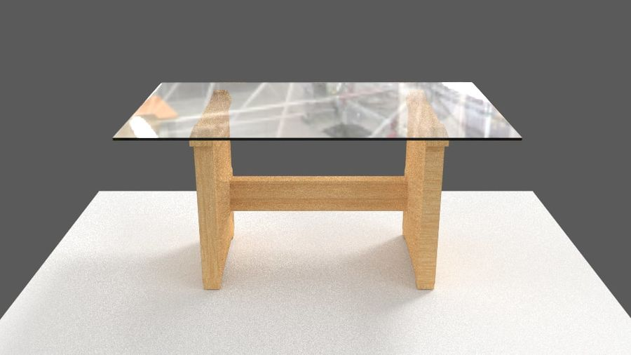 Table&chair 02 royalty-free 3d model - Preview no. 10