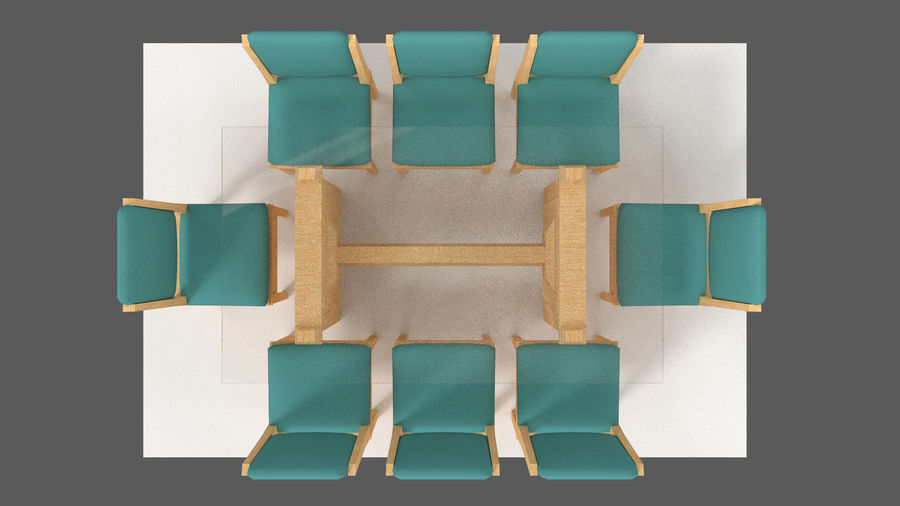 Table&chair 02 royalty-free 3d model - Preview no. 11