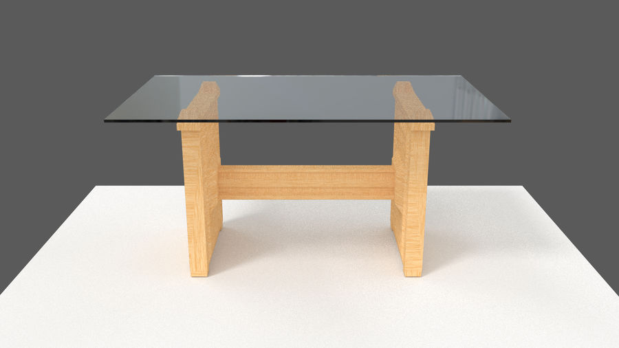 Table&chair 02 royalty-free 3d model - Preview no. 6