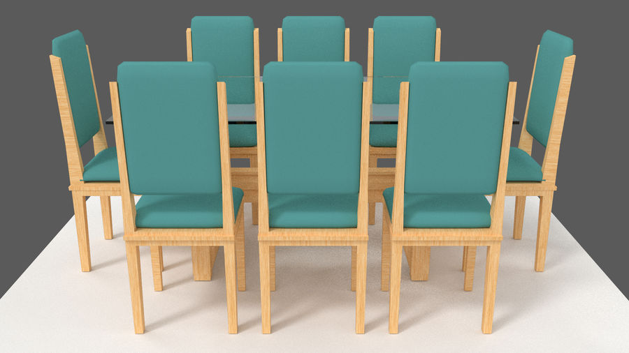 Table&chair 02 royalty-free 3d model - Preview no. 5