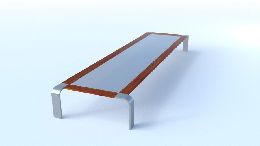Tavolino moderno royalty-free 3d model - Preview no. 1