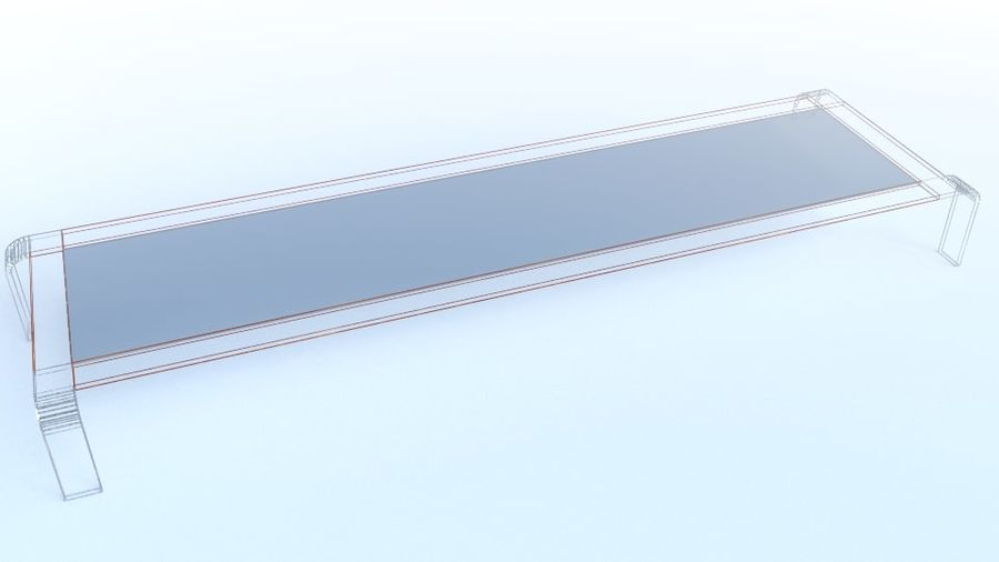 Tavolino moderno royalty-free 3d model - Preview no. 6
