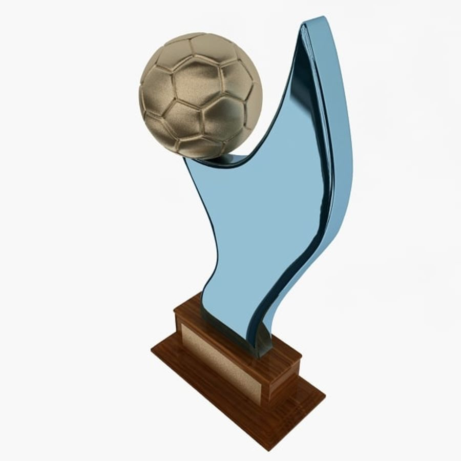 Football Trophy royalty-free 3d model - Preview no. 5