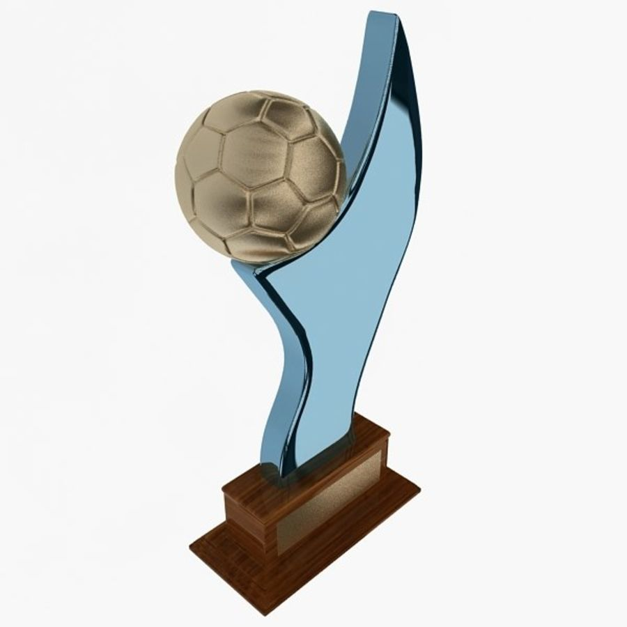 Football Trophy royalty-free 3d model - Preview no. 4