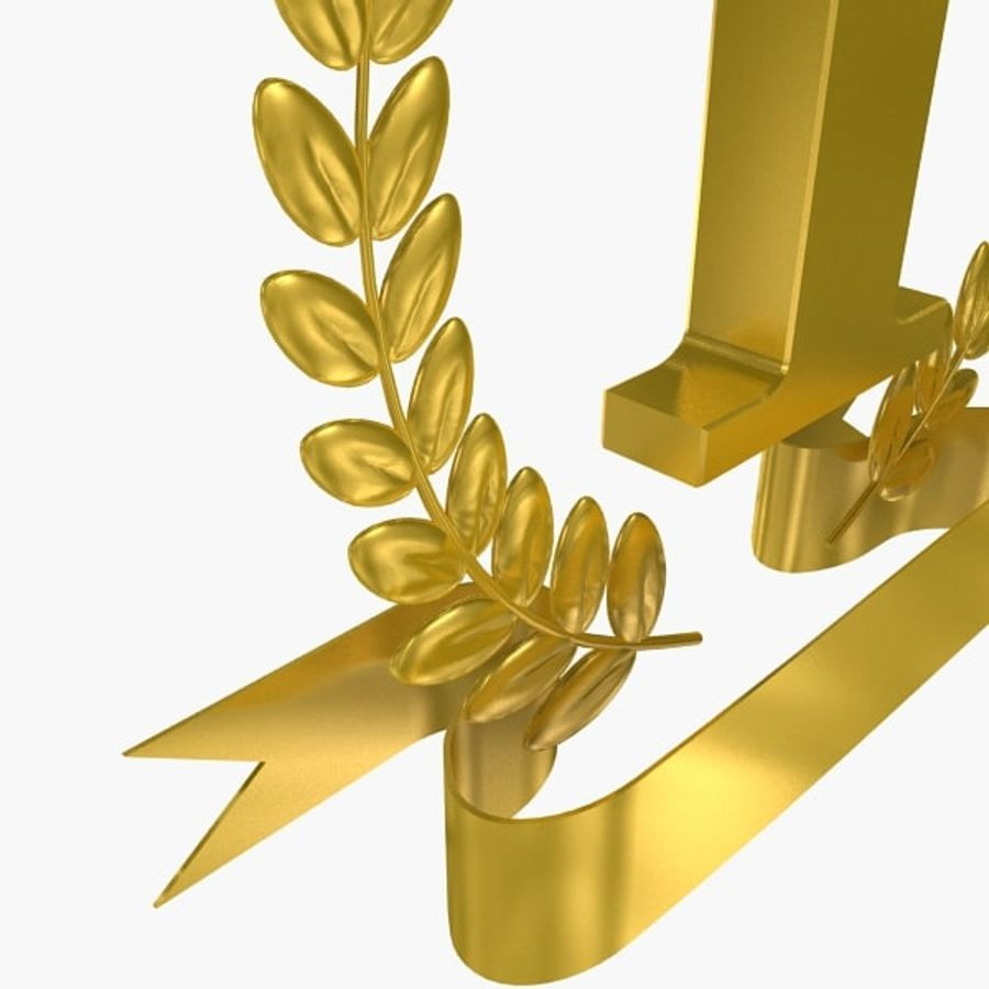 1st Trophy royalty-free 3d model - Preview no. 7