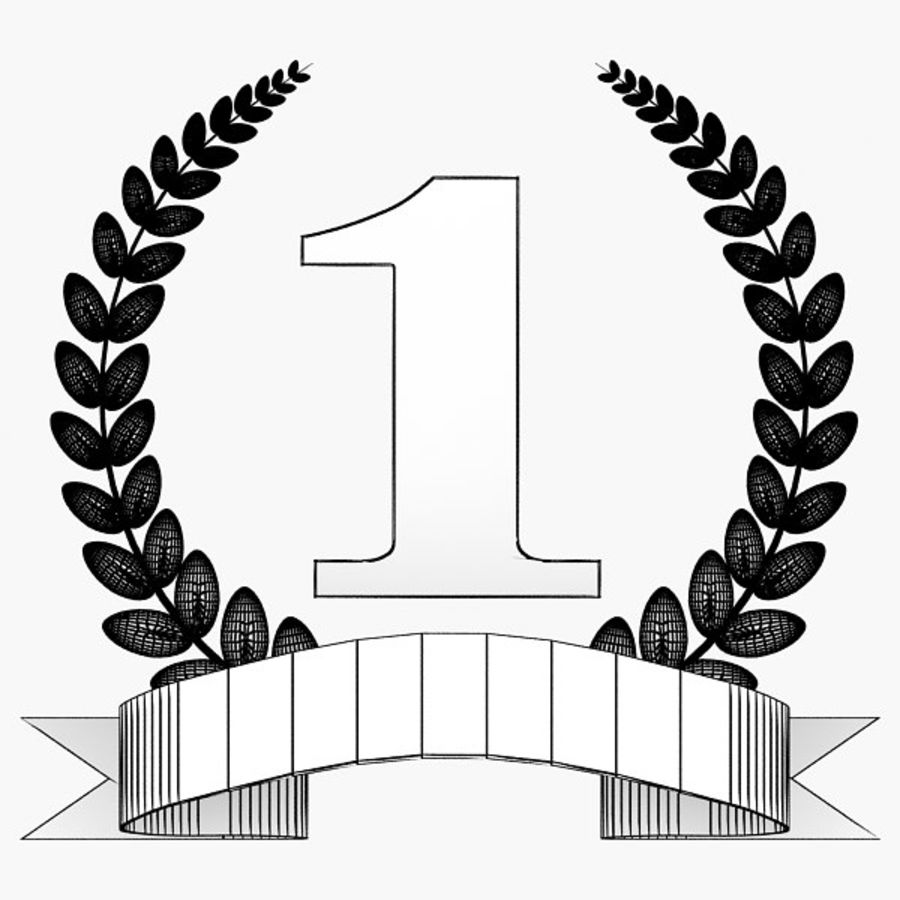 1st Trophy royalty-free 3d model - Preview no. 6
