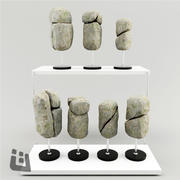Stenen decor 3d model