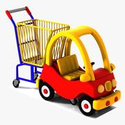 Child-Friendly Shopping Cart 2 3d model