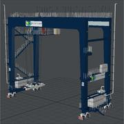 Harbour Rail Crane Felixstowe 3d model