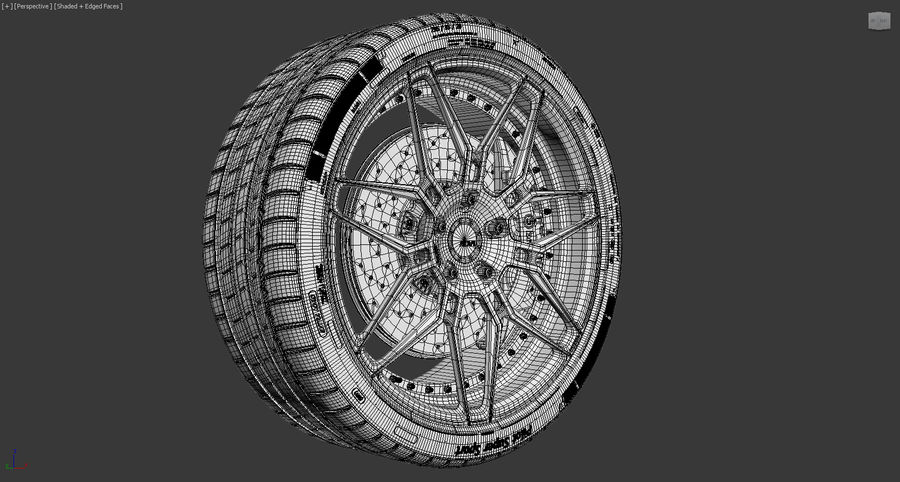 ADV7 e pneumatici Michelin Pilot Super Sport royalty-free 3d model - Preview no. 16