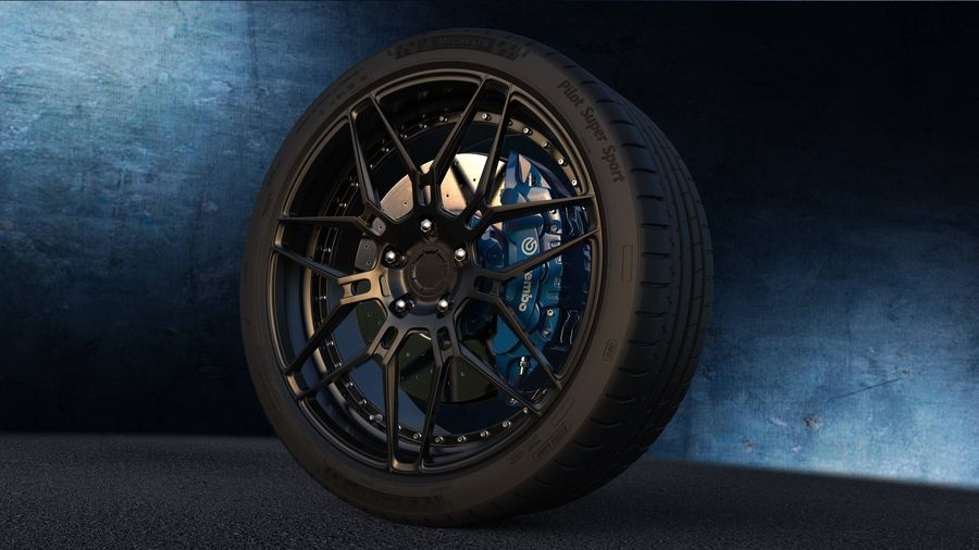 ADV7 e pneumatici Michelin Pilot Super Sport royalty-free 3d model - Preview no. 1