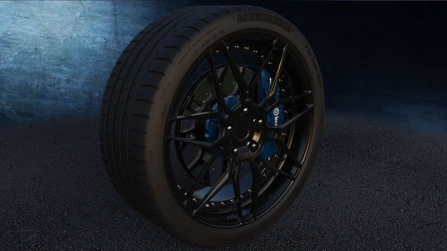 ADV7 e pneumatici Michelin Pilot Super Sport royalty-free 3d model - Preview no. 5
