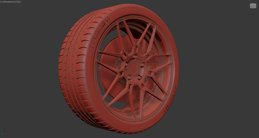 ADV7 e pneumatici Michelin Pilot Super Sport royalty-free 3d model - Preview no. 17