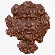 płaskorzeźba bóg wina Bachus dla cnc 3d model