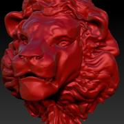 lion head trophy 3d model