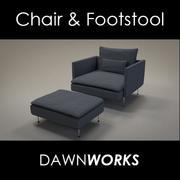 Chair Blue 3d model