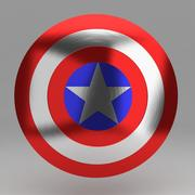 Captain round shield 3d model