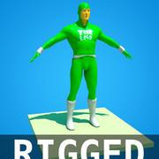 super héros 3d model