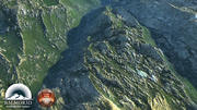 Grassy mountains North America 3d model