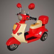 Rojo de la motocicleta modelo 3d