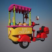 Toon Icecream Bike 3d model