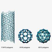 Struktura molekularna 3d model