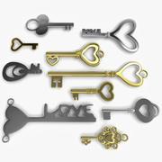 10 Love Keys 3d model